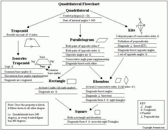 Quadrilateral Flow Chart quadrilateral flow cha...