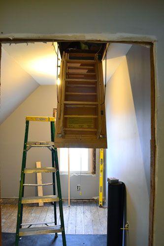 How To Install Attic Stairs Attic Renovation Attic Remodel Attic Design