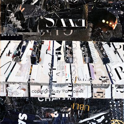 Artists Of Texas Contemporary Paintings and Art - Piano Collage by Suzy 'Pal' Powell: