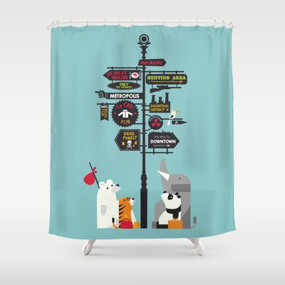 Nowhere Home Shower Curtain by Budi Satria Kwan - $68.00