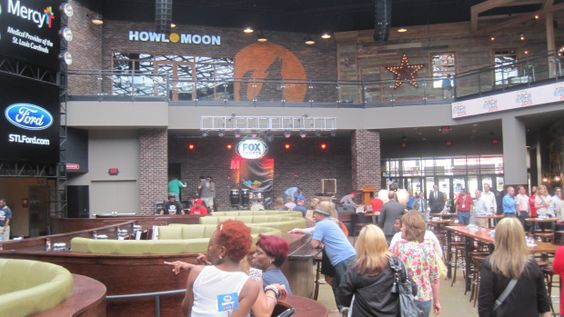 Ballpark Village in St. Louis is so loud that you can't have a conversation, but do some patrons prefer it that way? #acoustics