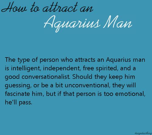 How To Attract The Aquarius Male 120