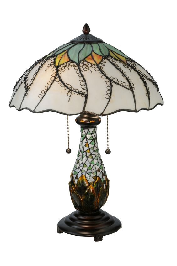 "Meyda 22.5""H Videira Florale Table Lamp"