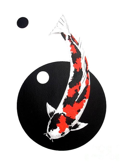 Koi Showa Circles Nishikoi Painting Tote Bag For Sale By Gordon Lavender In 2020 Koi Art Japanese Tattoo Koi Fish Drawing