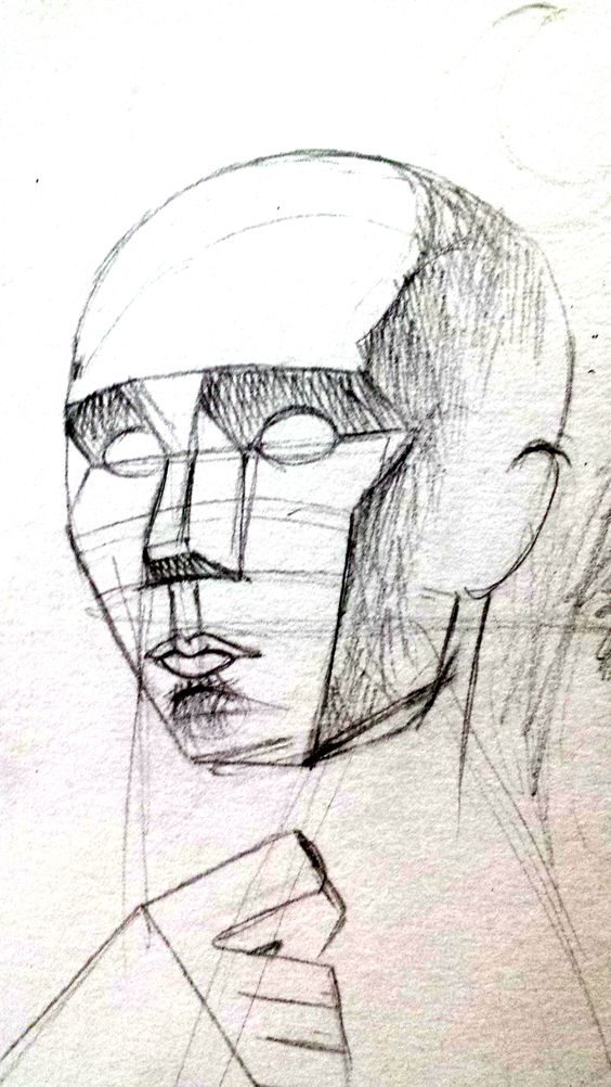 """Head sketch"" by Vishwani Chauhan, pencil on paper."