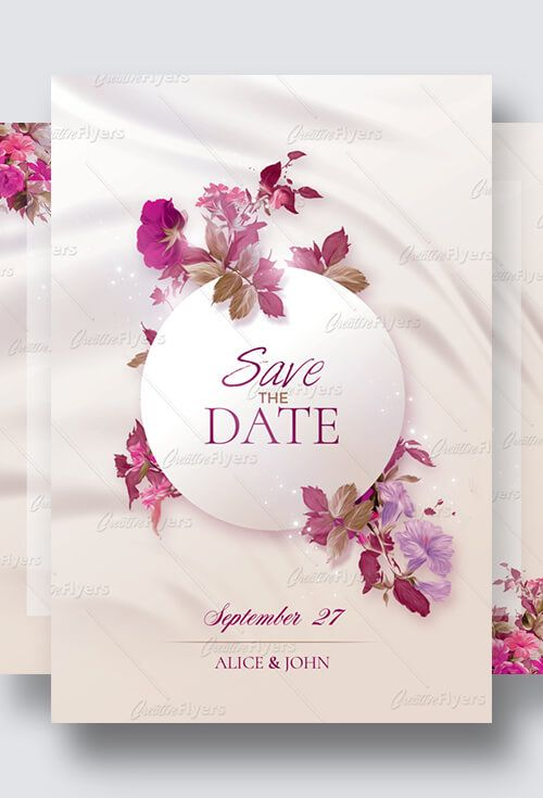 Creative Wedding Invitation Psd Templates Creativeflyers Creative Wedding Invitations Wedding Invitations Wedding Invitation Templates