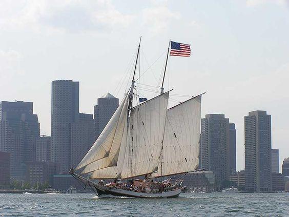 The Liberty Clipper in Boston Harbor