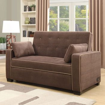 Westport Fabric Convertible Loveseat Java Things I Like Hubby Edition Pinterest