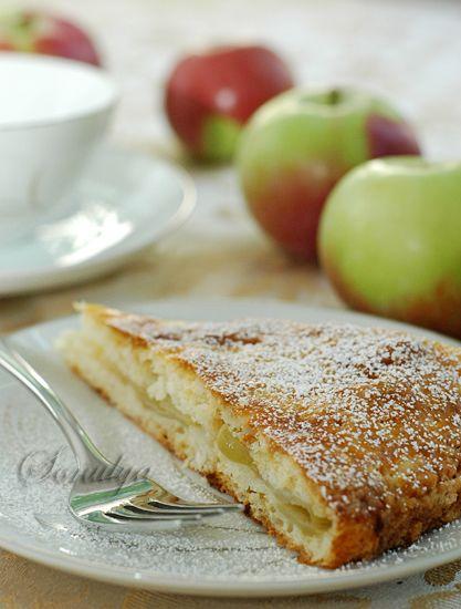 ленивый яблочный пирог  from carina