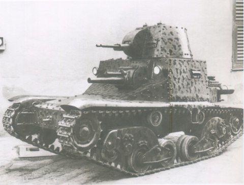 The prototype of the Italian âassaultâ Ansaldo tank model 1936.