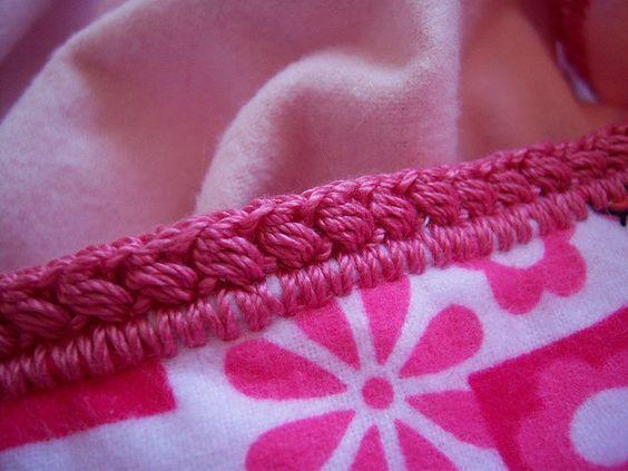 Remate a crochet para mantas polares costura for Remates a ganchillo