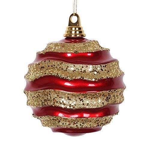 Vickerman Wave Ball Ornament Christmas Ornaments Top Brands Artists Designer Names Christmas Ornaments Gold Candy Ornaments