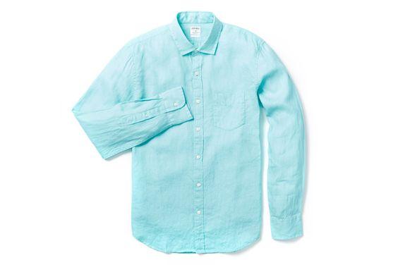 Irish linen shirt turquoise irish linen casual shirt for Irish linen dress shirts