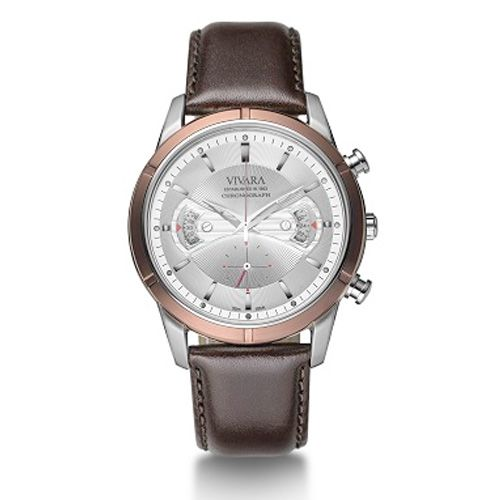 Relógio Vivara Masculino Couro Marrom - DS11657C