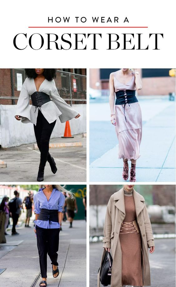 These 6 ladies showed us how to wear a corset belt without feeling like a Pussycat Doll.