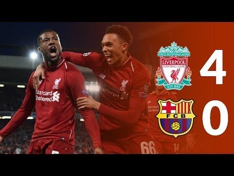 Liverpool Vs Barcelona 4 0 Highlights Ucl 2019 Youtube Uk Football Liverpool League