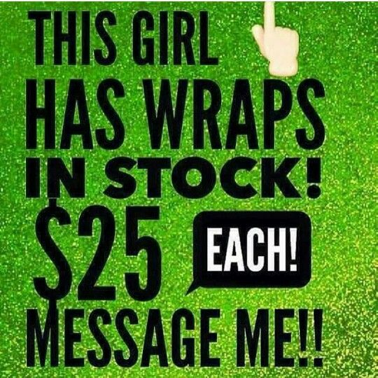 "Have you heard of ""That Crazy Wrap Thing""? If you want to try one I have them in stock! Comment below or DM me or (631)487-6486..First come first serve."