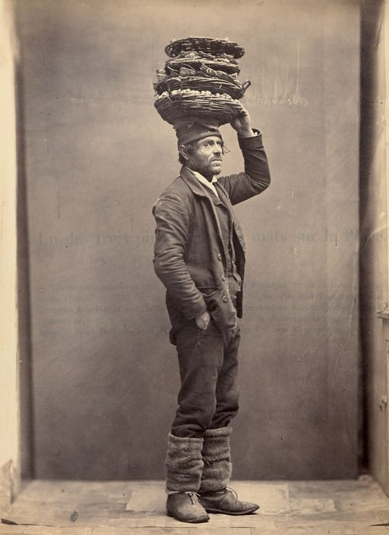 + The oyster seller. Ca. 1870? +: