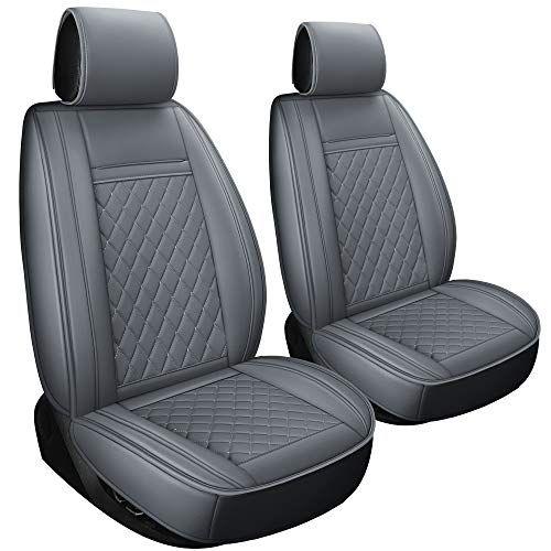 Luckyman Club 2 Pcs Gray Car Seat Covers Fit Most Sedan Suv Truck
