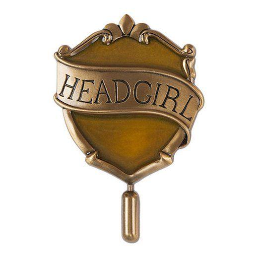 Wizarding World of Harry Potter : Hogwarts Hufflepuff Head Girl House Badge Metal Trading Pin