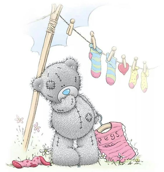 Tatty Teddy washing day.: