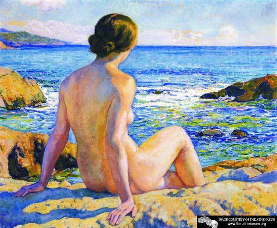 "Theo Van Rysselberghe ""Swimmer resting"":"