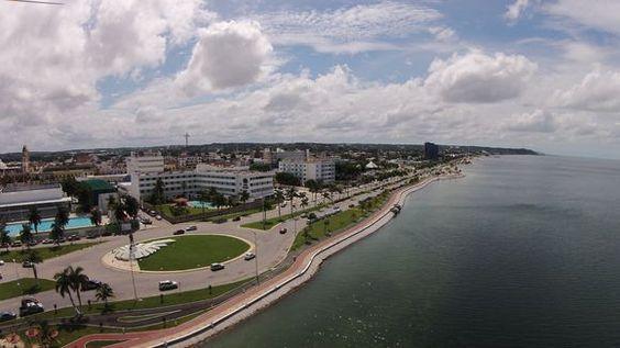Malecón de la ciudad de Campeche