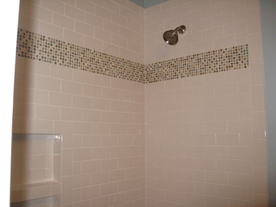 Mosaic placement for 39 blue 39 bathroom 4x4 white tiles for 4x4 bathroom ideas