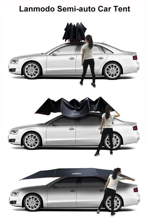 Pro Four Season Semi Auto Car Tent Car Tent Tent Car Shade