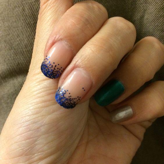 gel nail-glitter gradation