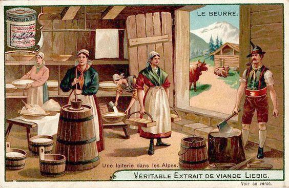 -s760- Мясной экстракт Либиха Пахтанье масла (1904) _Альпы