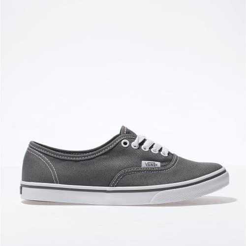 womens dark grey vans authentic lo pro trainers | schuh