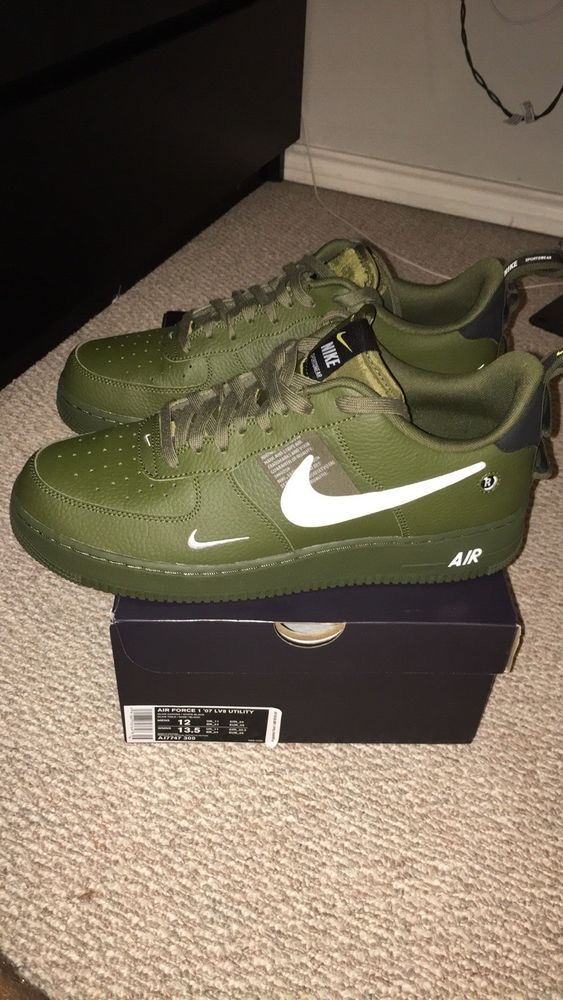 Nike Air Force 1 07 Lv8 Utility Olive Canvas Fashion Clothing