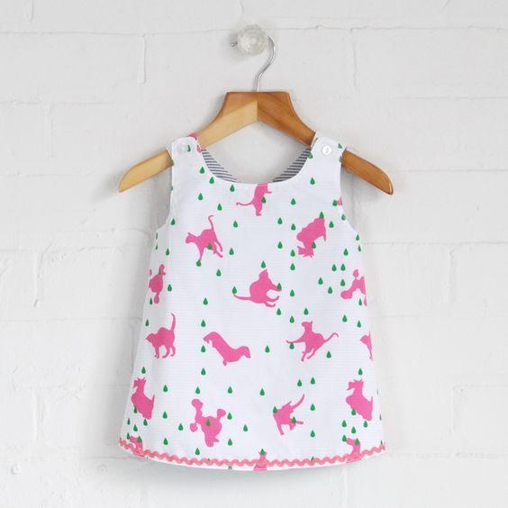 Paignton - Baby Girls Reversible Pinny | flukekids.co.uk