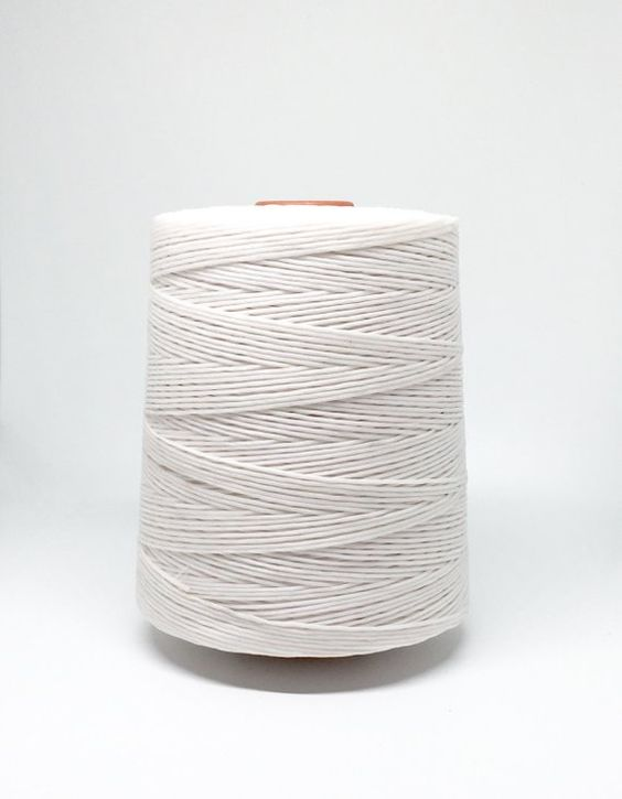 10 meters ≈ 11 yards - 1mm Snow White Waxed Cord - Cotton Waxed Cord