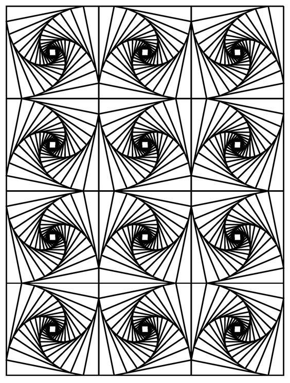 Galerie de coloriages gratuits coloriage op art illusion - Coloriage illusion d optique ...