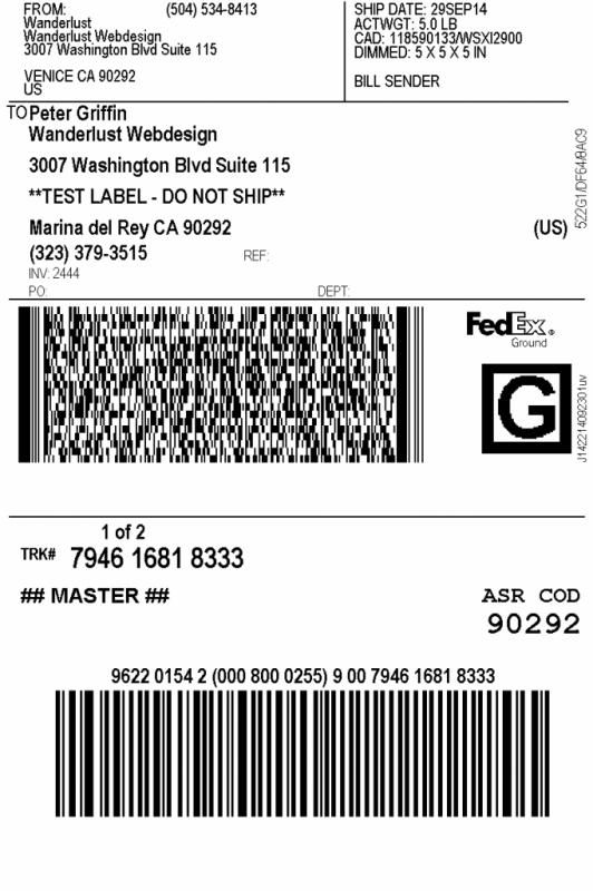 Shipping Label Example Label Template Word Label Templates Labels