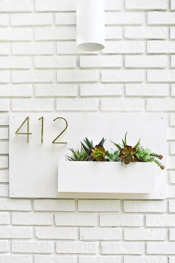 Diy Modern House Number Planter