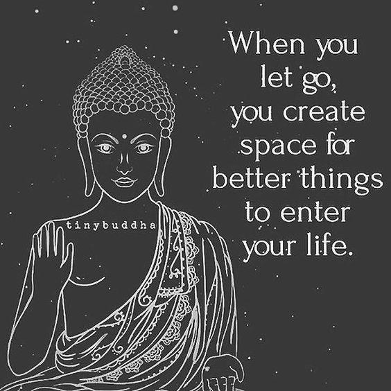 Cuando dejas ir, estás creando espacio para mejores cosas que vendrán en tu vida