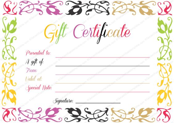 Gift Certificate Template Beautiful Printable Gift Certificate - birthday gift coupon template