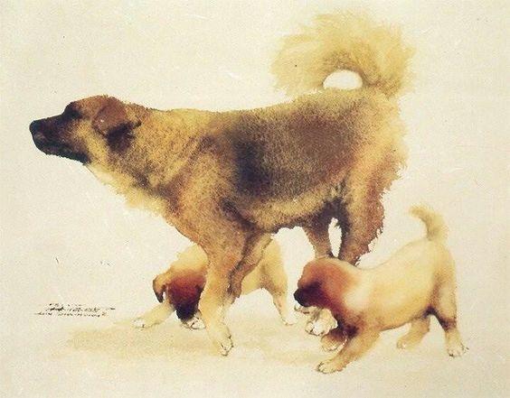 Watercolor I Lin Shun Shiung: