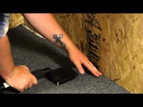 Stretching Carpet Without a Carpet Stretcher : Carpet Installation & Help - YouTube