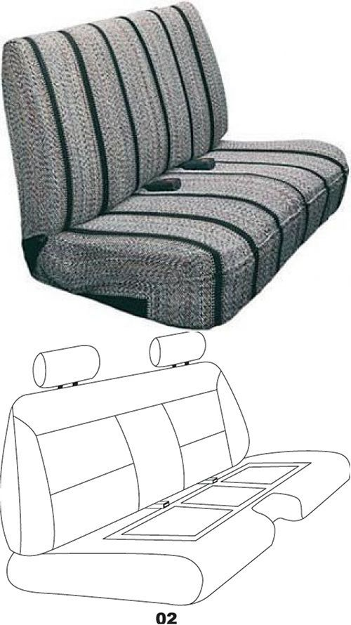 Gloves 22683 Saddleman Universal Front Bench Seat Cover