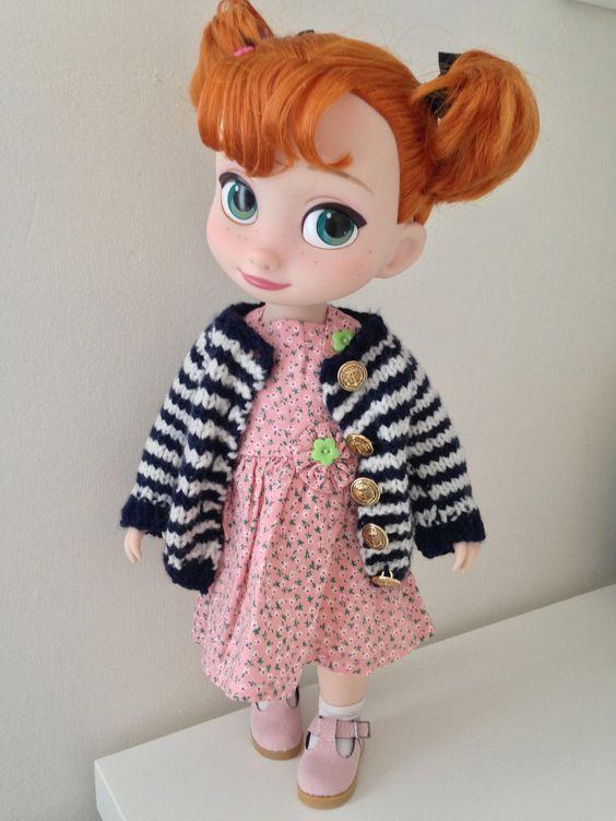 Nautical Cardigan / Disney Animator Doll