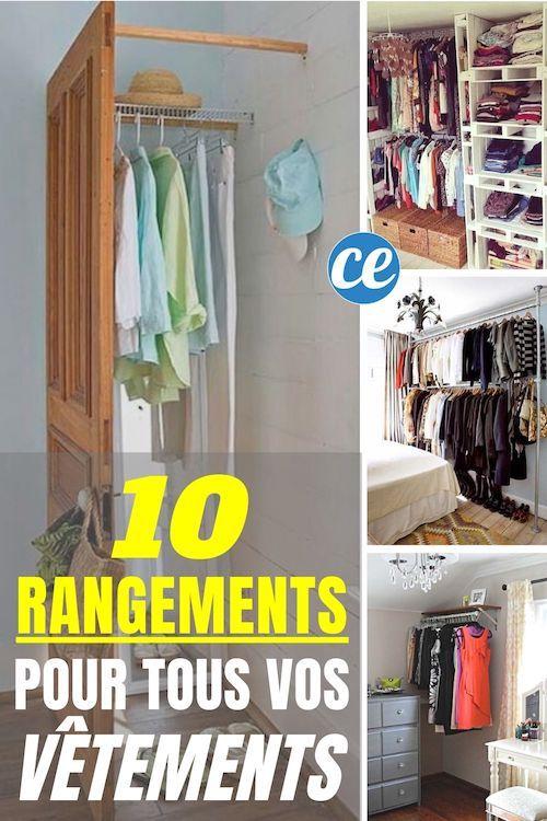 10 Rangements Astucieux Pour Tous Vos Vetements Faciles Pas Chers Rangement Vetement Placard Simple Rangement