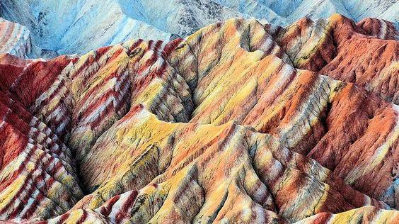 Le parc géologique de Zhangye Danxia, Chine