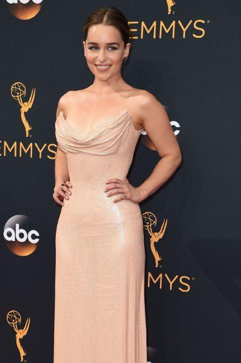 Emilia Clarke at The 68th Primetime Emmy Awards (2016)