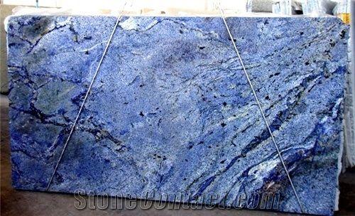 Azul Bahia, Blue Bahia Granite Slabs from Lebanon - StoneContact.com