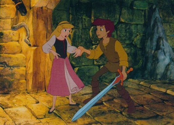 Eilonwy and Taran-  The Black Cauldron This was my favorite movie as a kid!!!
