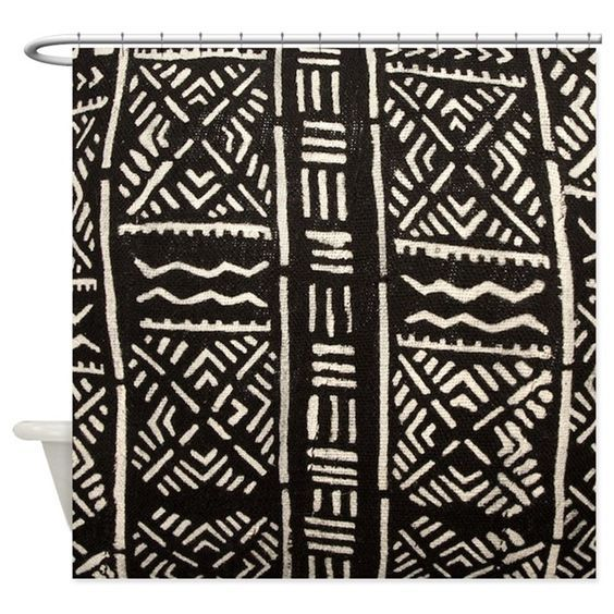 African Tribal Print Mudcloth Shower Curtain By Pick Your Perfect